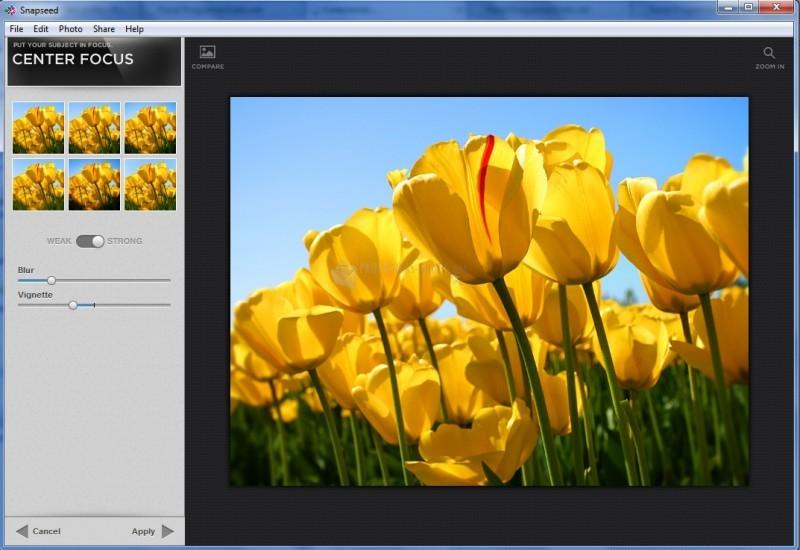 Pantallazo Snapseed Desktop
