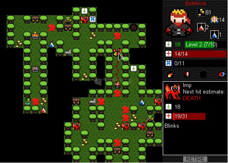 Pantallazo Desktop Dungeons