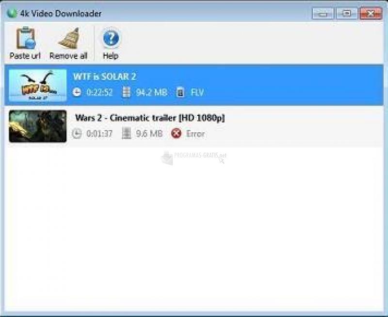 Pantallazo 4k Facebook Downloader