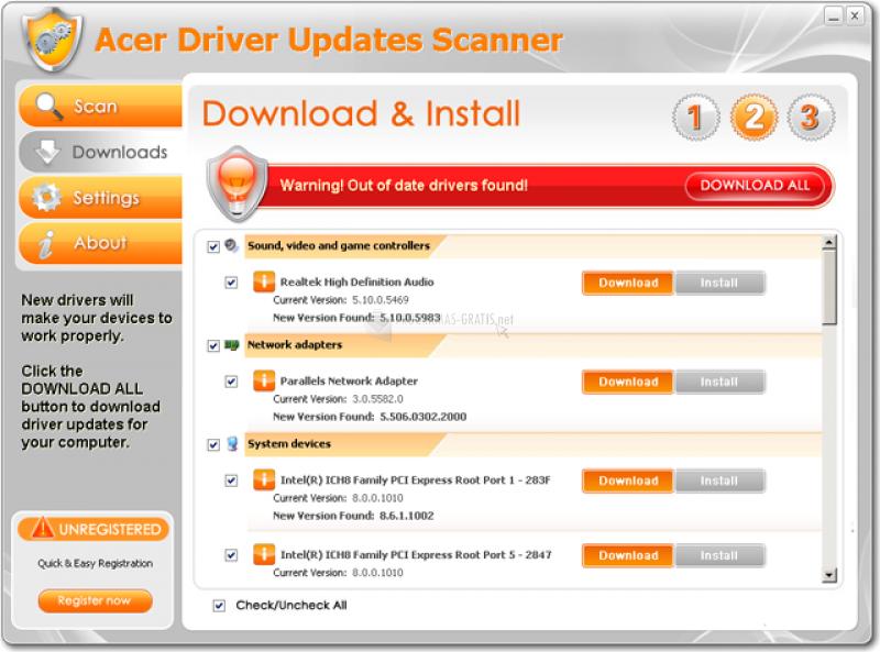 Foto Acer Driver Updates Scanner