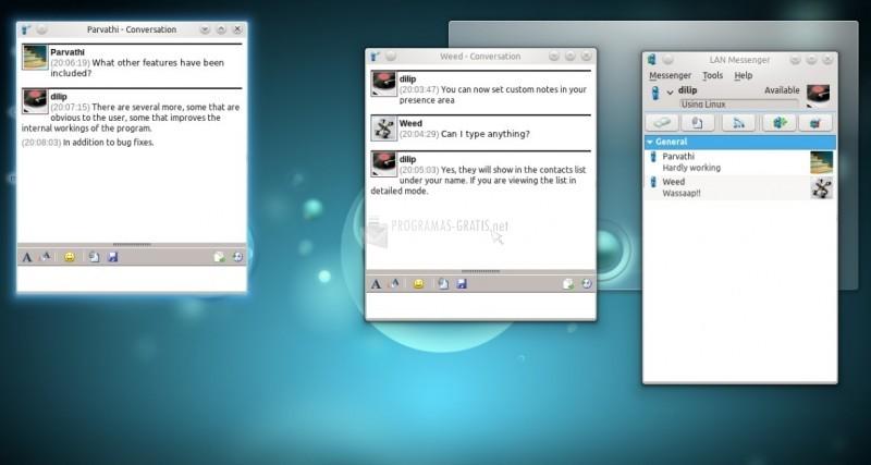 Pantallazo LAN Messenger