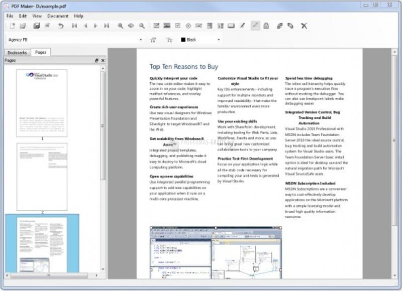 Pantallazo PDF Maker
