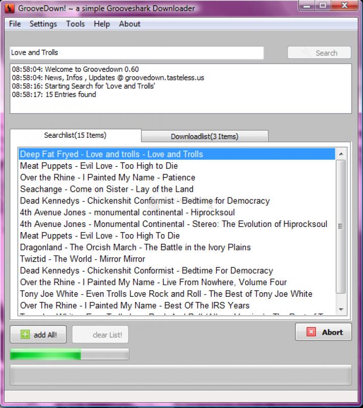Pantallazo GrooveDown