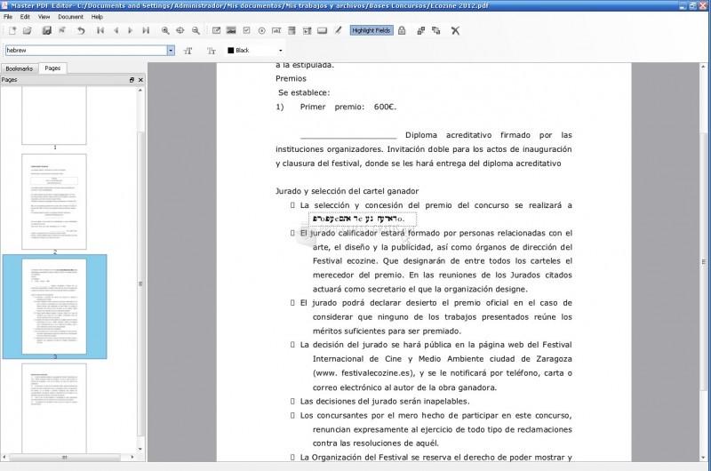 Pantallazo Master PDF Editor