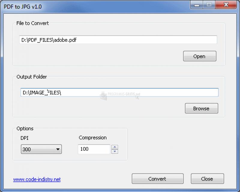 Pantallazo PDF to JPG