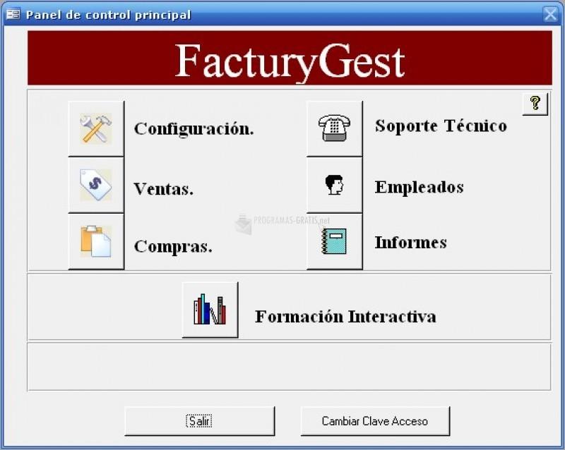 Pantallazo FacturyGest