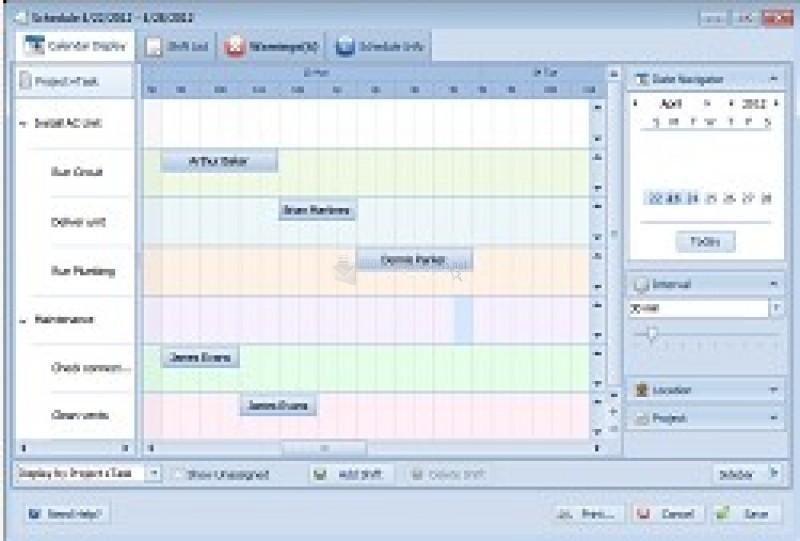 Pantallazo Employee Scheduling Pro