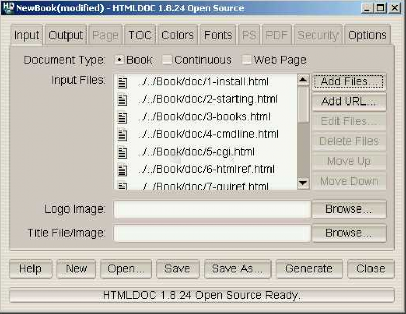 Pantallazo HTMLDOC