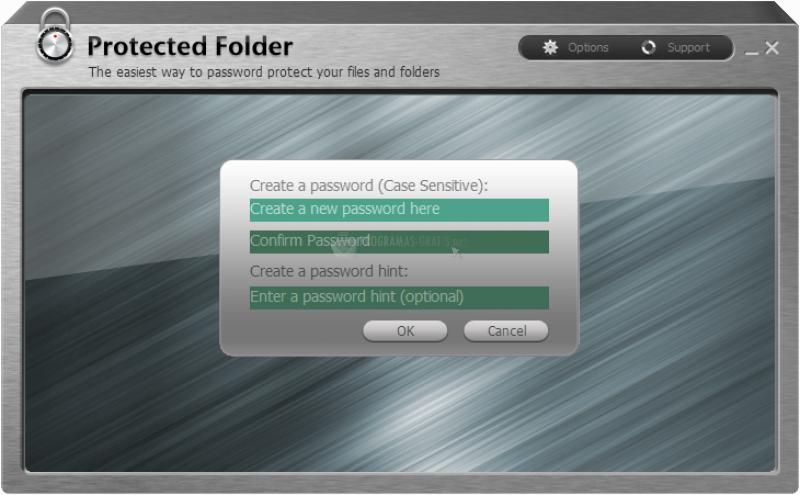 Pantallazo IObit Protected Folder