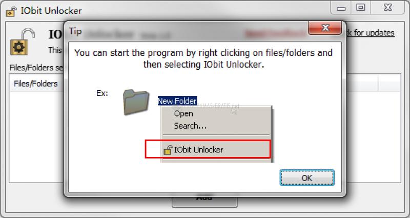 Pantallazo IObit Unlocker