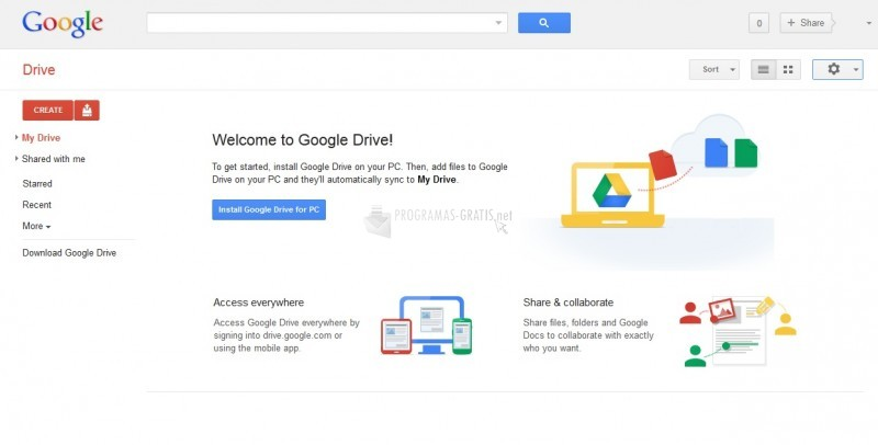 Pantallazo Google Drive