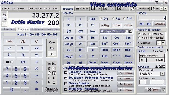 Pantallazo OfiCalc