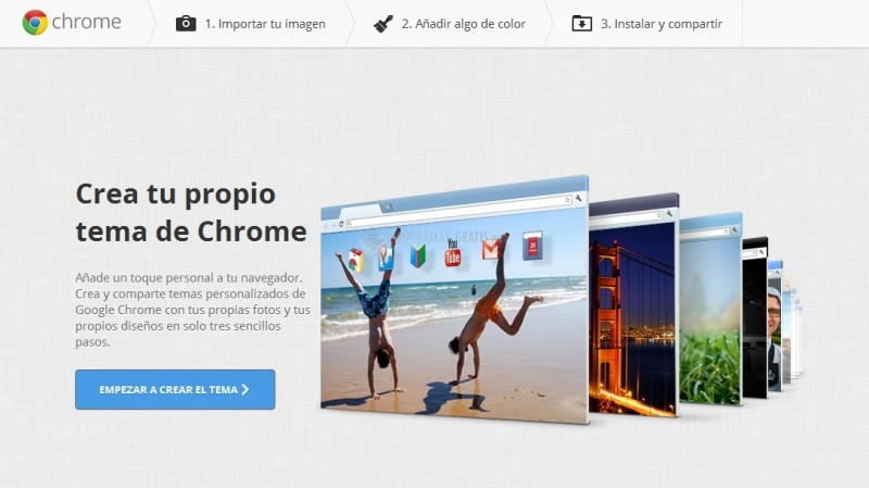 Pantallazo My Chrome Theme