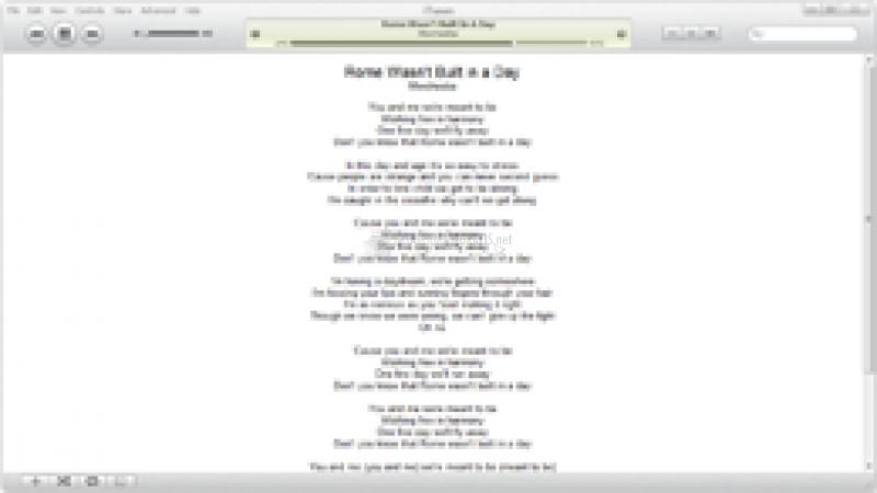 Pantallazo Lyrics Plugin iTunes