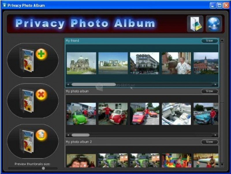 Pantallazo Privacy Photo Album