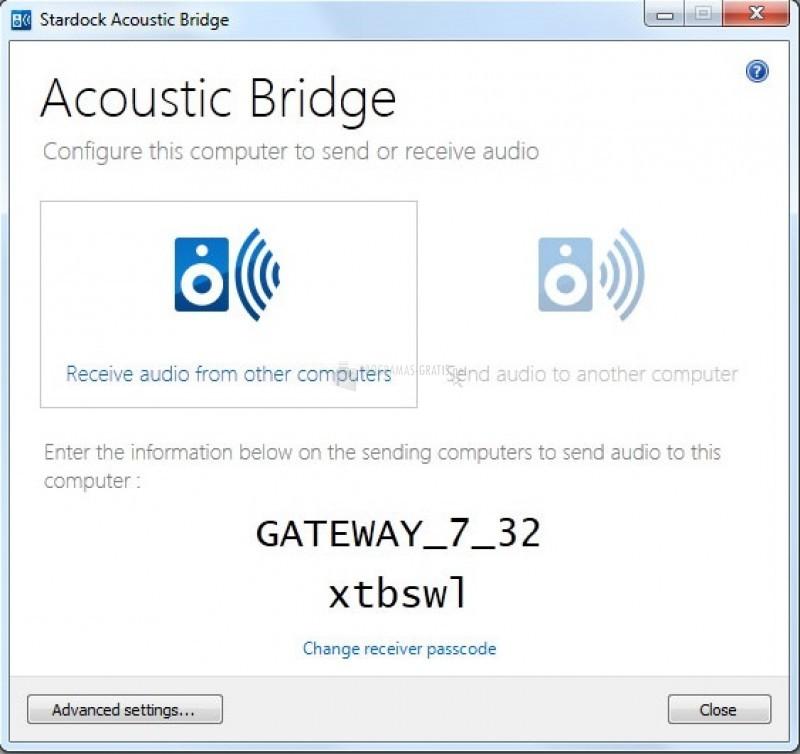 Pantallazo Acoustic Bridge