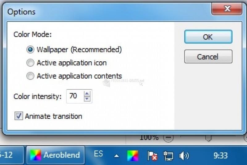 Pantallazo AeroBlend