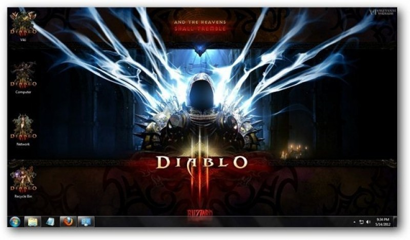 Captura de pantalla Diablo 3 Theme