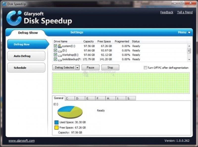 Pantallazo Disk SpeedUp