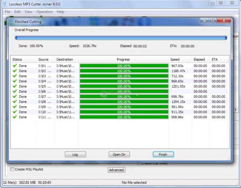 Pantallazo Lossless MP3 Cutter Joiner