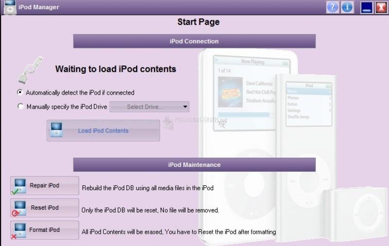 Pantallazo iPod Manager