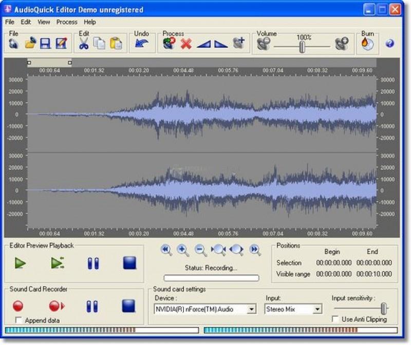 Pantallazo AudioQuick Editor