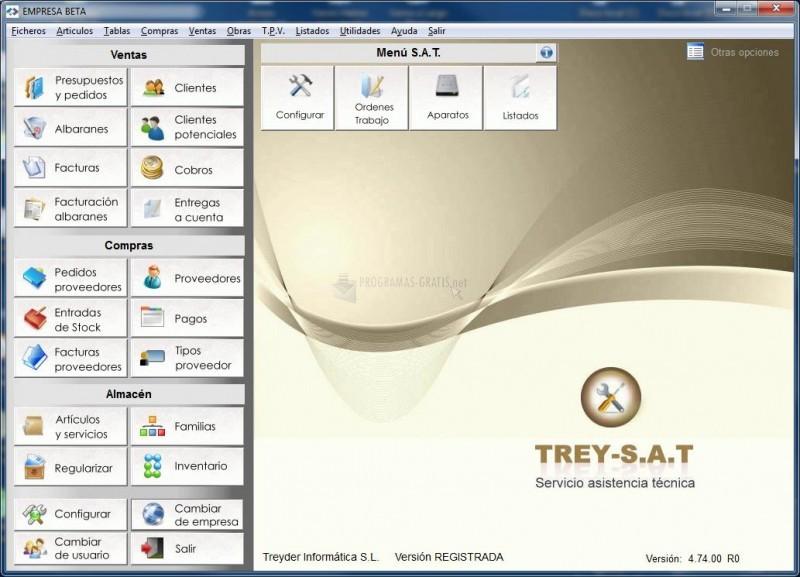 Pantallazo Trey-SAT