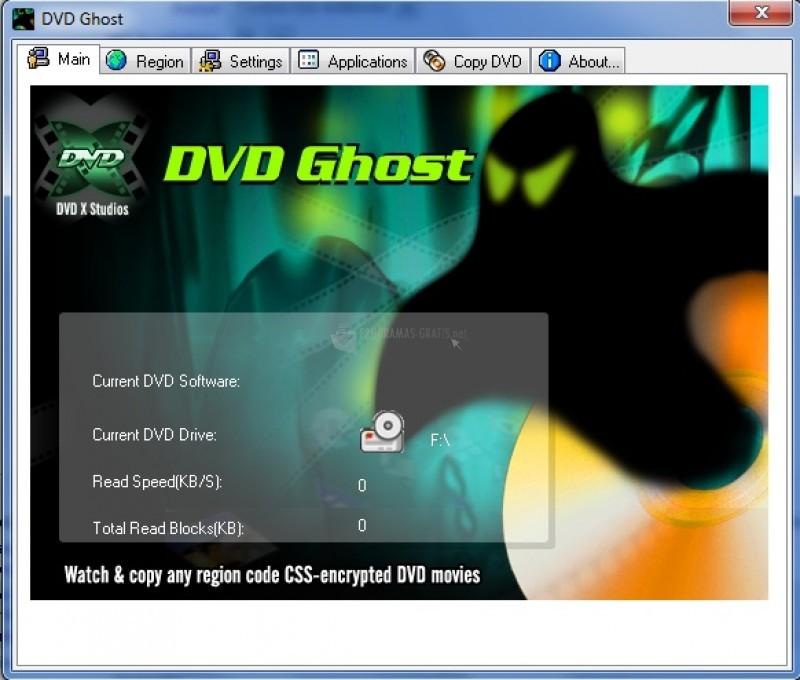 Pantallazo Region Free DVD Ghost