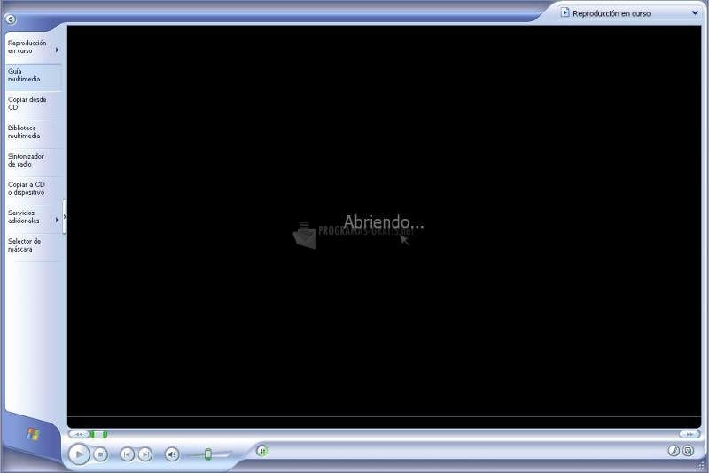 Pantallazo Windows Media Player XP (Ver. 9)