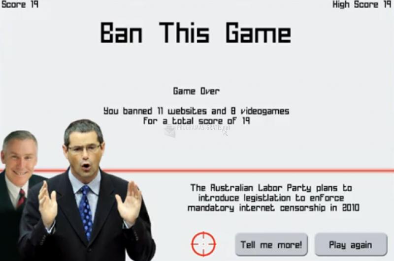 Pantallazo Ban This Game!