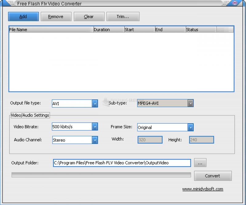 Pantallazo Free Flash FLV Video Converter