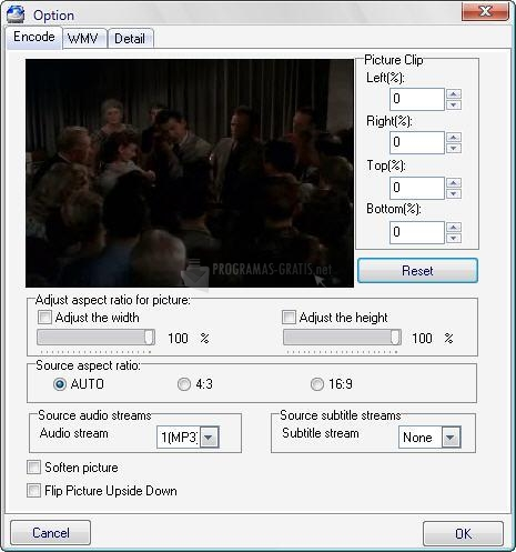 Captura WinAVI Video Converter