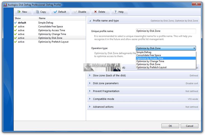 Pantallazo Auslogics Disk Defrag Pro