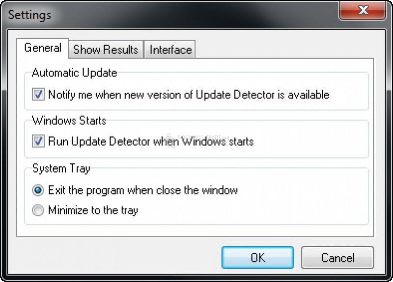 Pantallazo Update Detector