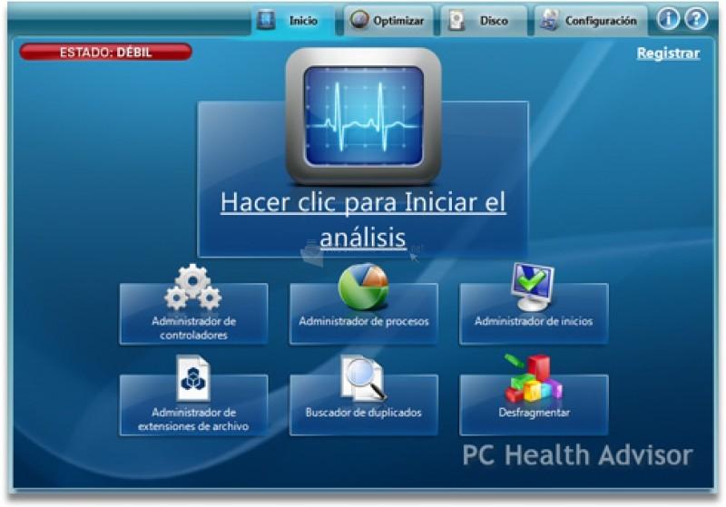 Pantallazo PC Health Advisor