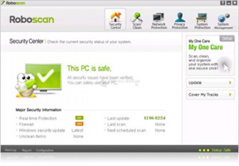 Pantallazo Roboscan Internet Security Free