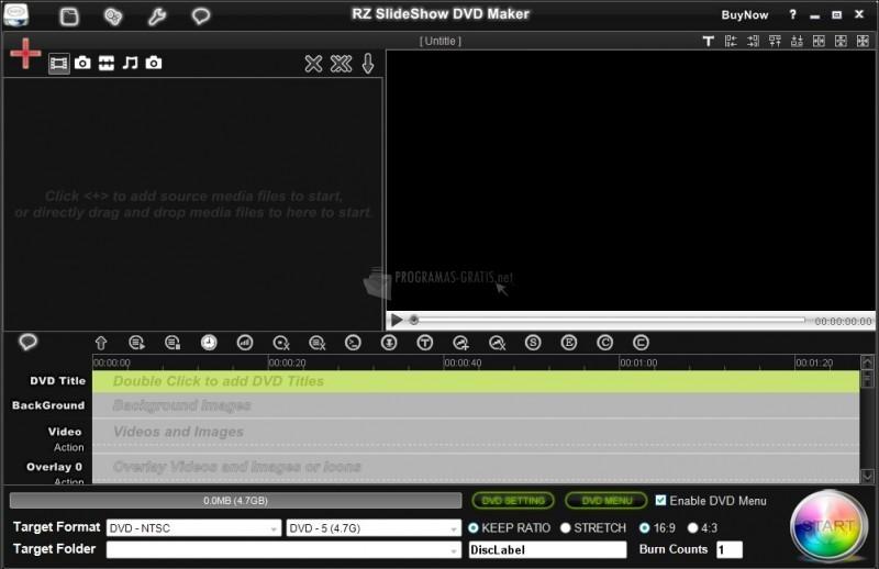 Pantallazo RZ Slideshow DVD Maker