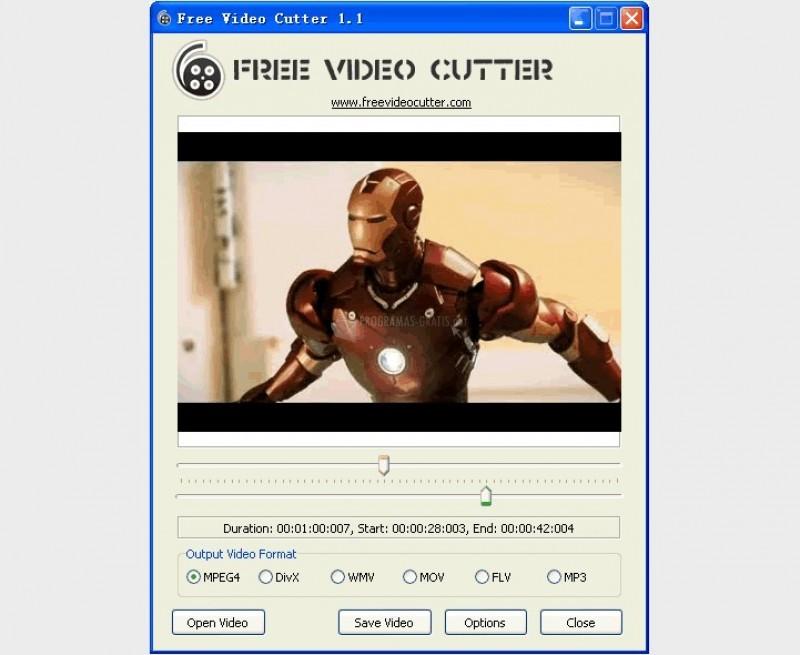 Pantallazo Free Video Cutter