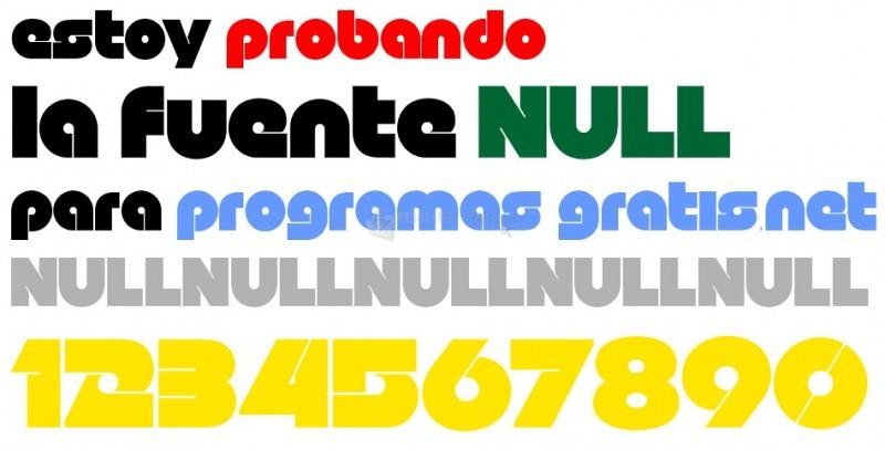 Pantallazo NULL Free Font