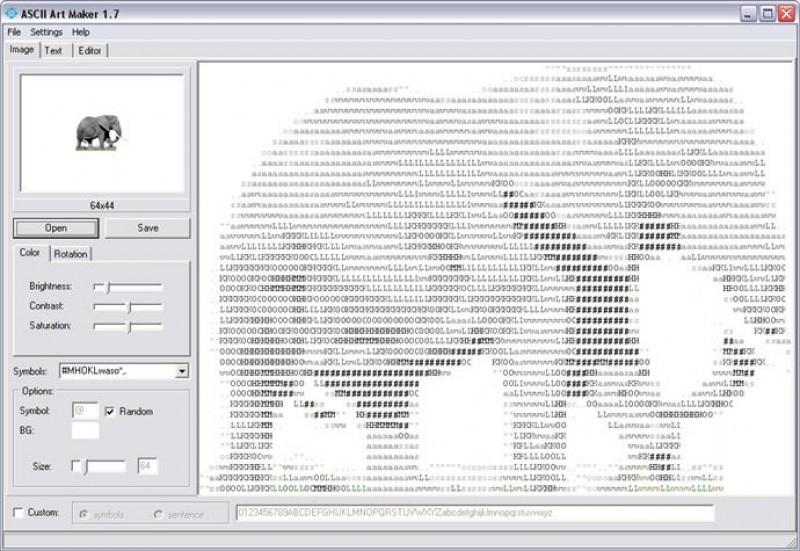Pantallazo ASCII Art Maker