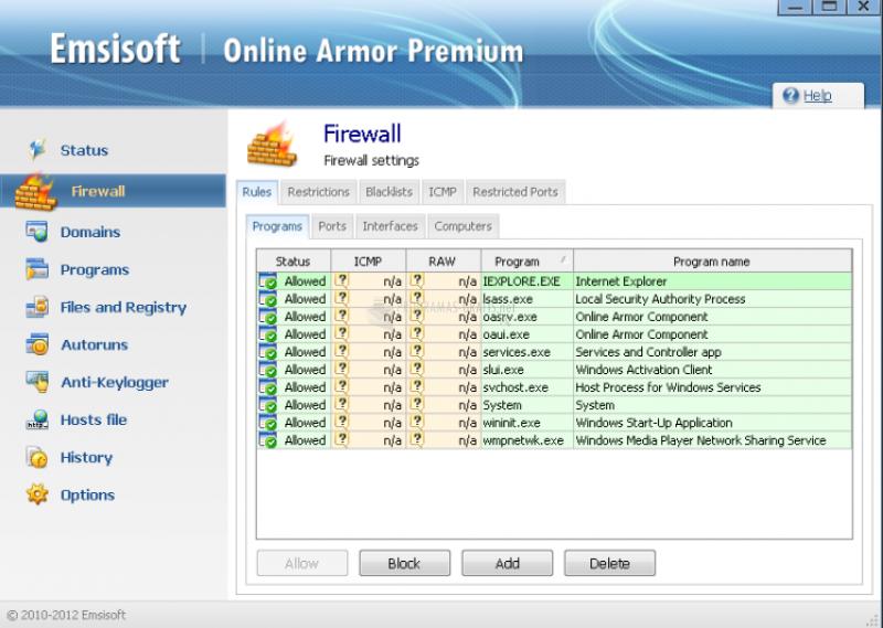 Pantallazo Emsisoft Internet Security Pack