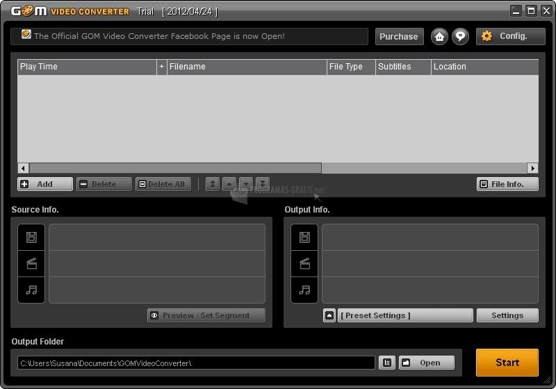 Pantallazo GOM Video Converter
