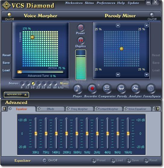Pantallazo Voice Changer Software Diamond