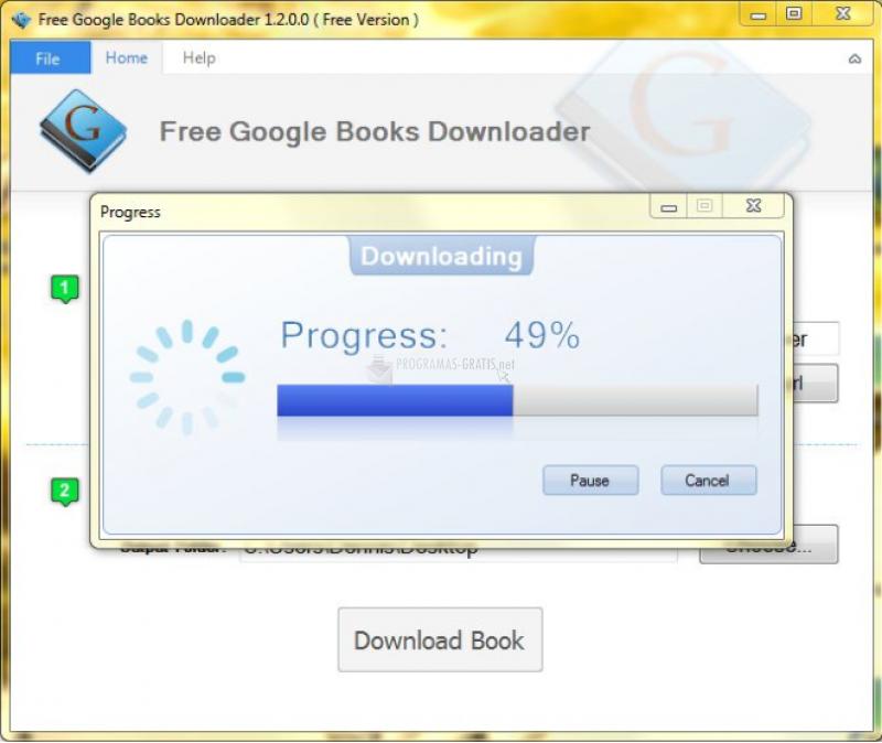 Pantallazo Free Google Books Downloader