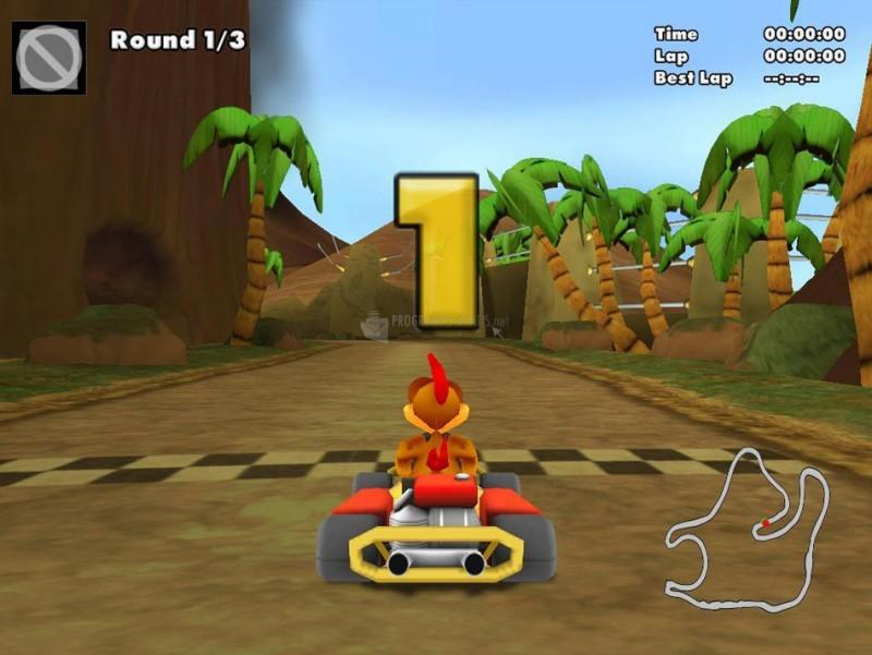 Pantallazo Crazy Chicken Kart 2