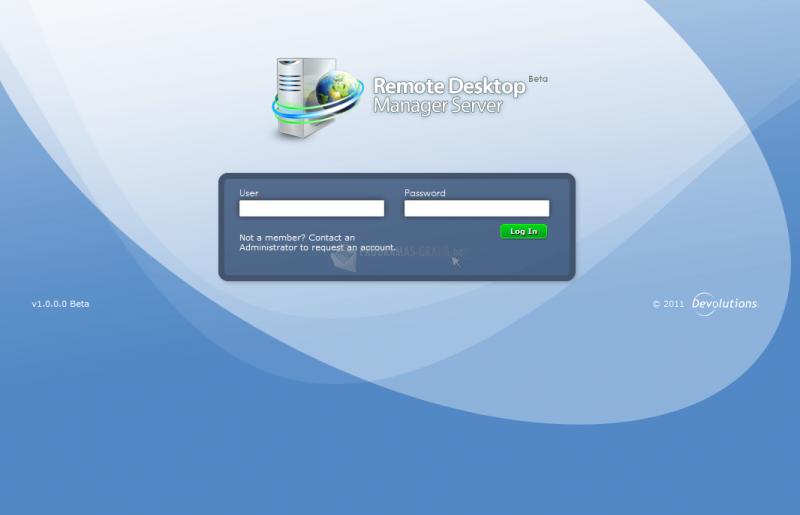 Pantallazo Remote Desktop Manager Server