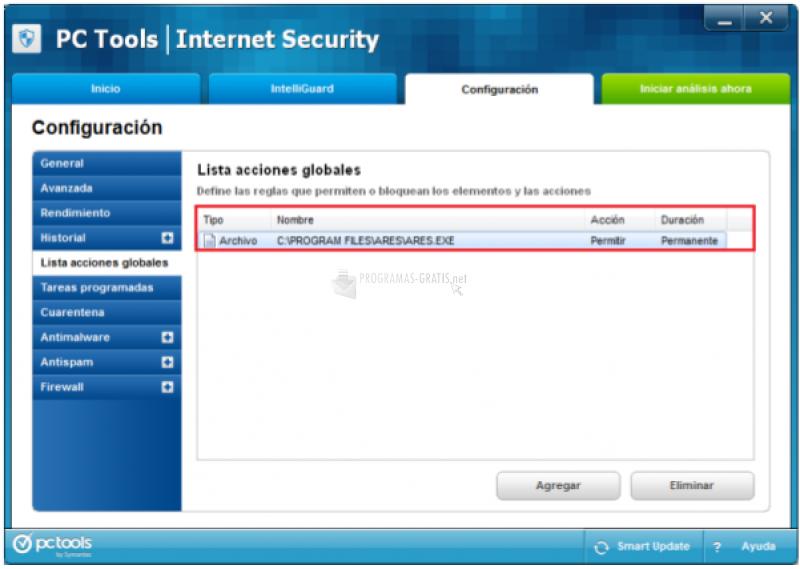 Pantallazo Telmex Antivirus
