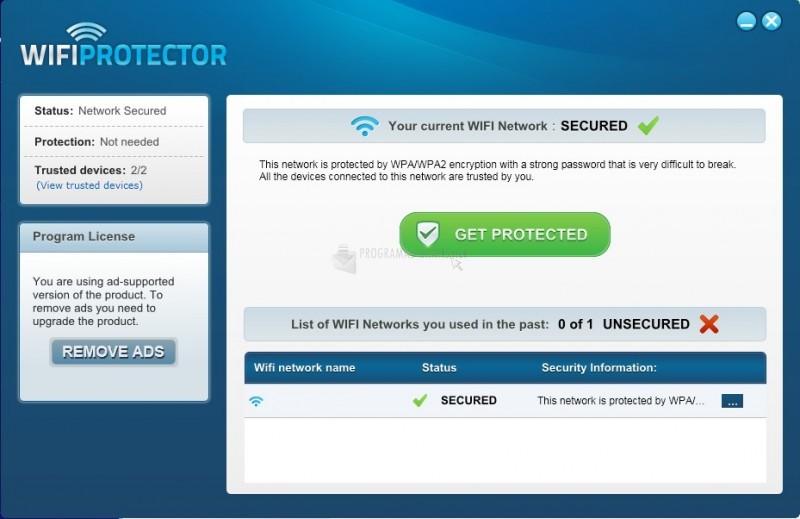 Pantallazo WiFi Protector