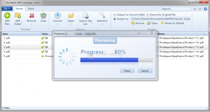 Pantallazo PDF Unlocker