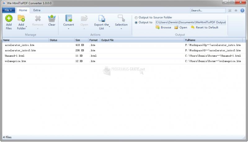 Pantallazo HTML to PDF Converter